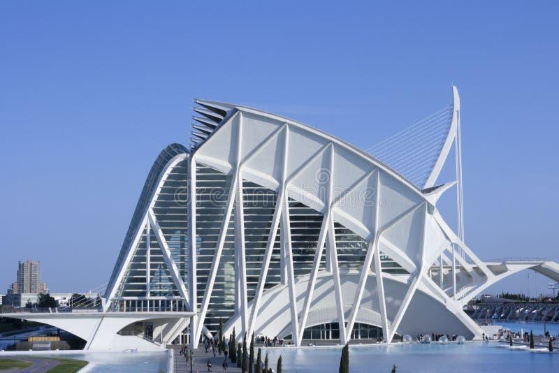 Деталь здания принца Felipe в Валенсия стоковые фото