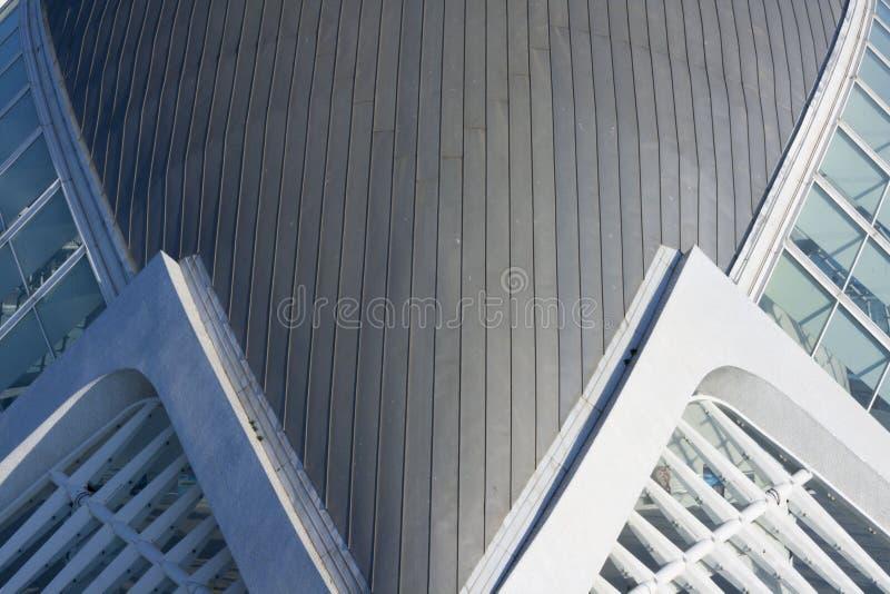 Деталь здания принца Felipe в Валенсия стоковое фото rf