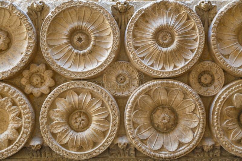 Деталь известного аббатства Cluny, Франция внутреннего художественного оформления стоковая фотография