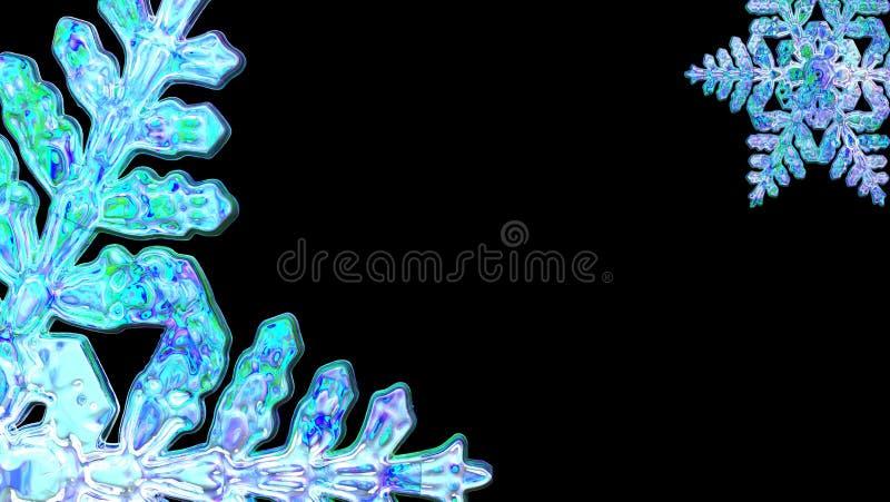 Деталь иллюстрации снежинки на черной предпосылке бесплатная иллюстрация