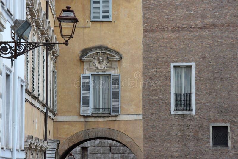 Деталь итальянского города, Рим улицы стоковая фотография rf