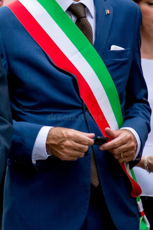 деталь итальянского мэра стоковое изображение