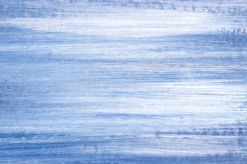 Деталь картины написанной маслом сини и белого масла стоковые изображения rf