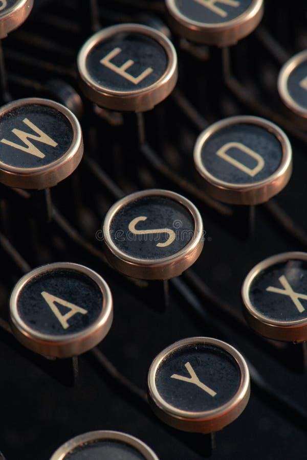 Деталь клавиатуры машинки стоковое изображение rf