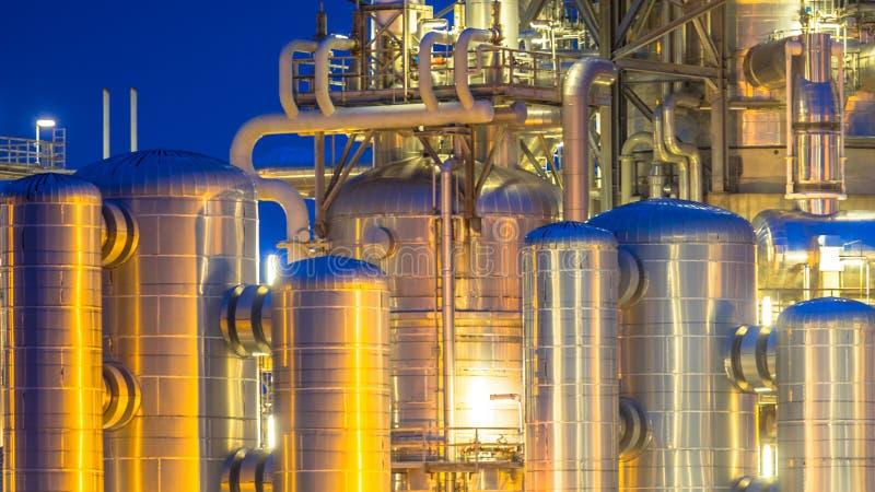 Деталь контейнера химической промышленности стоковая фотография
