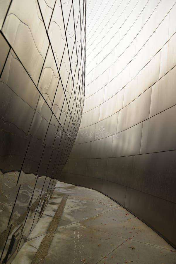 Деталь концертного зала Уолт Дисней Los Angeles, США стоковые изображения rf