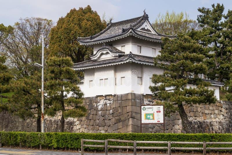 Деталь красивого замка Nijo в Киото, Японии стоковое изображение rf