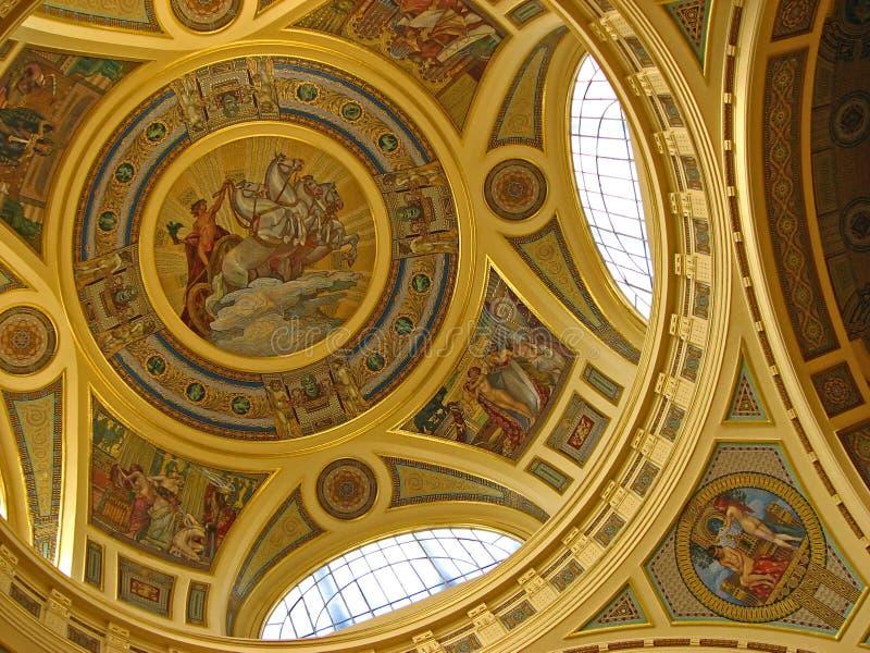 деталь куполка золотистая стоковое изображение rf