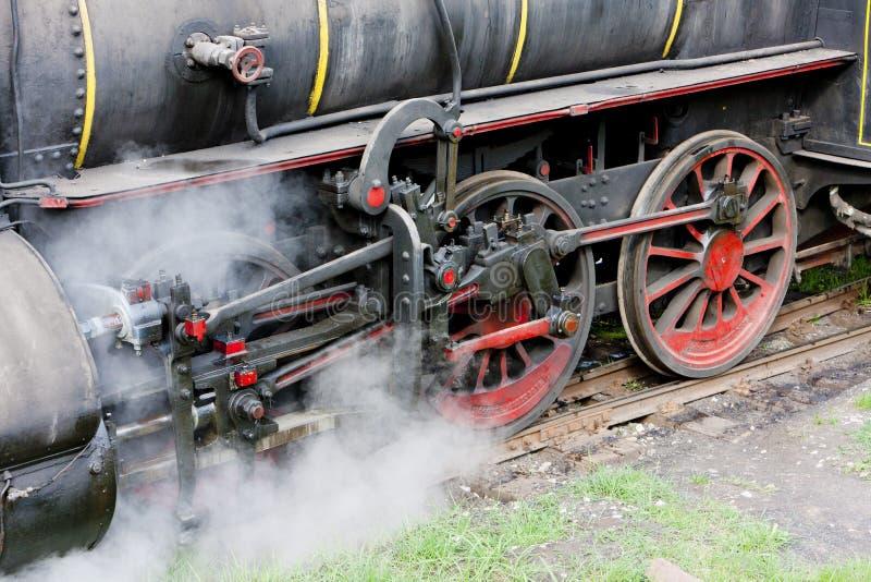 деталь локомотива пара & x28; 126 014& x29; , Resavica, Сербия стоковые изображения rf