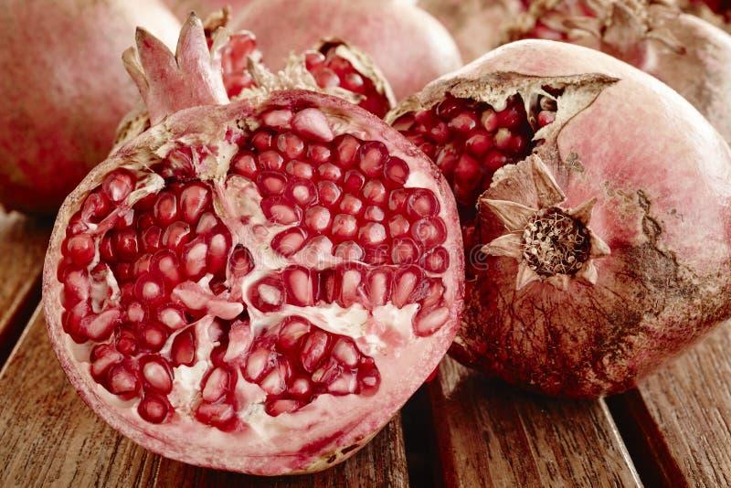 Деталь макроса семян плода гранатового дерева еда здоровая стоковая фотография rf