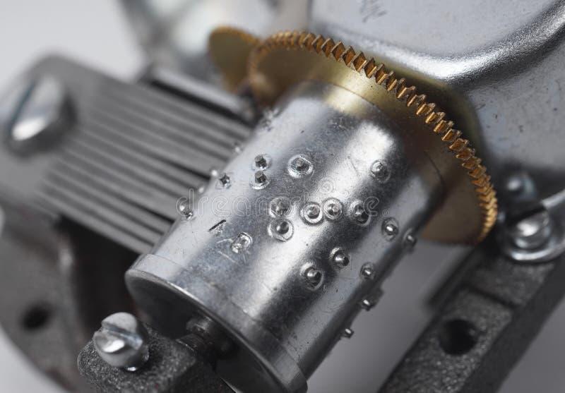 Деталь механизма музыкальной коробки стоковое фото