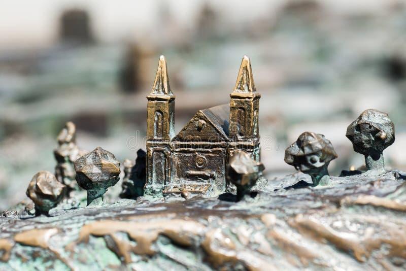 Деталь модели города Szombathely, Венгрии стоковое изображение rf