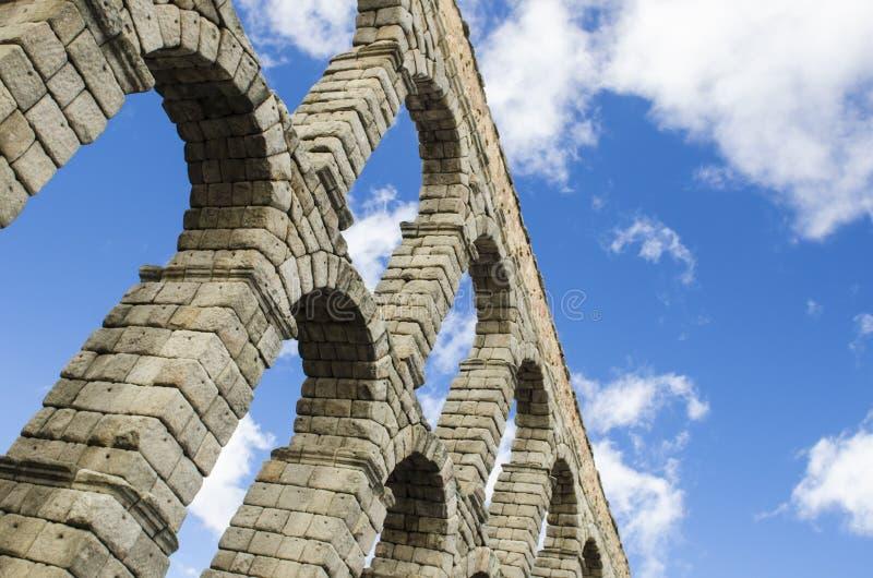 Деталь мост-водовода Сеговии в Испании стоковые изображения