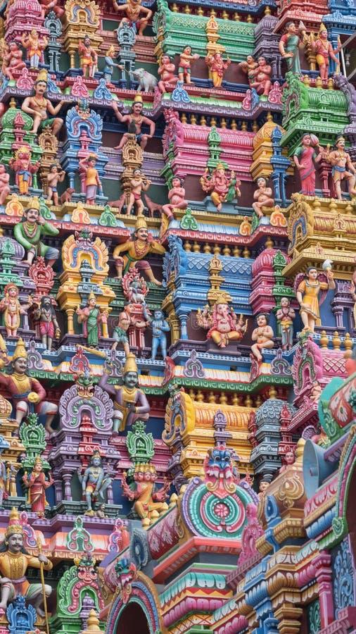 Деталь от ворот индусского виска стоковое фото rf