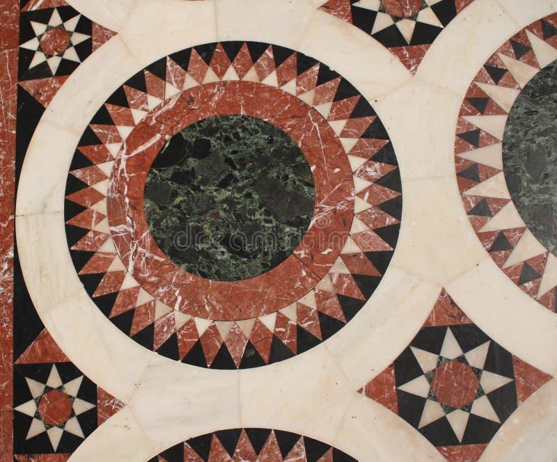 Деталь от мозаики пола в церков святого Sepulchre, усыпальница Христос, в старом городе Иерусалима, Израиль стоковое изображение rf