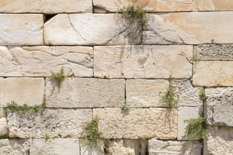 Деталь от стен старого акрополя в Афинах стоковая фотография