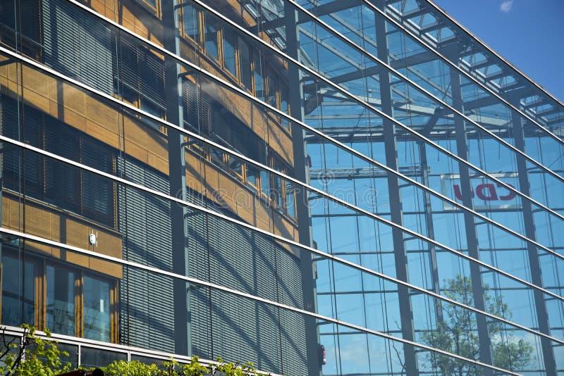 Деталь партии CDU размещает штаб в Берлине стоковые изображения rf