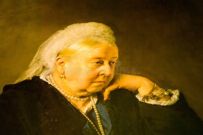Деталь портрета ферзя Виктория как более старая женщина стоковые фото