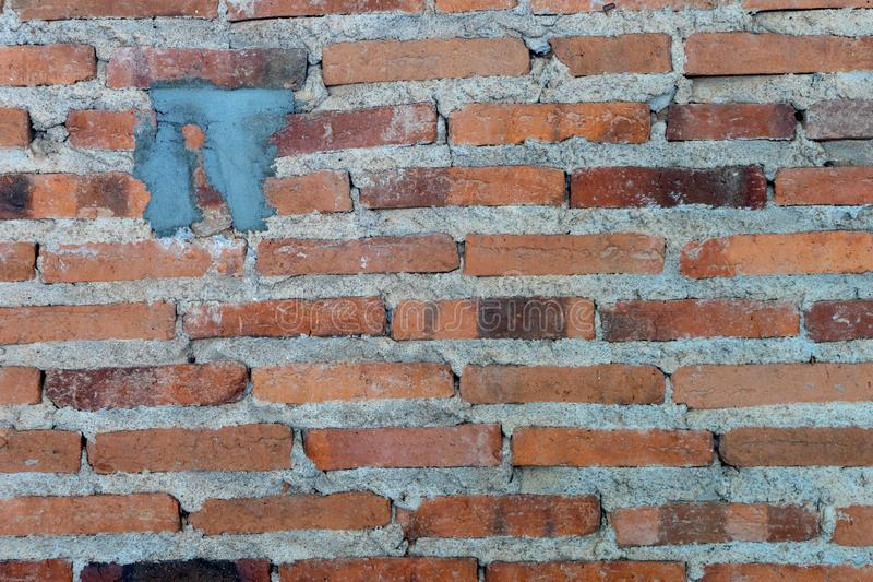 деталь старой кирпичной стены, года сбора винограда grunge текстуры стоковое изображение rf