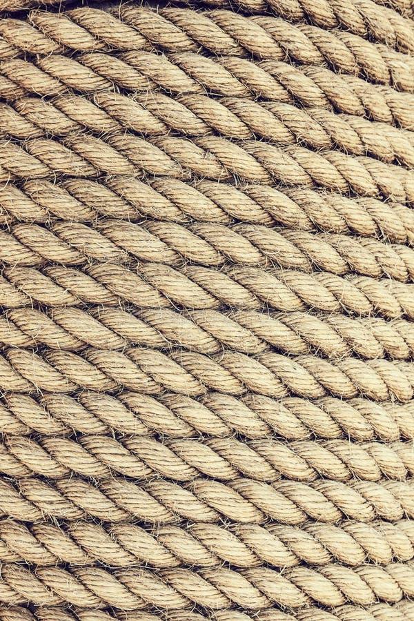 Деталь текстуры веревочки стоковая фотография rf