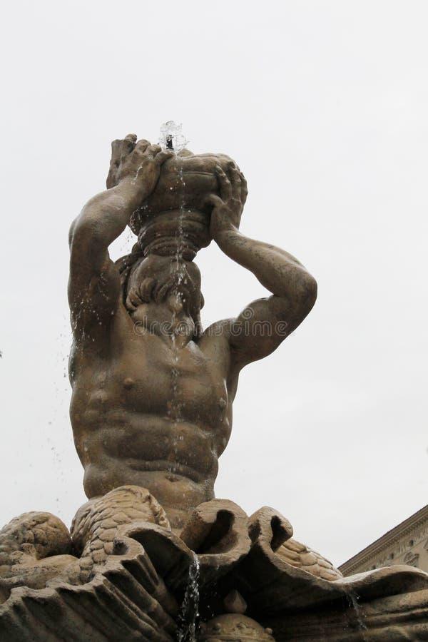 Деталь фонтана в Риме стоковое фото