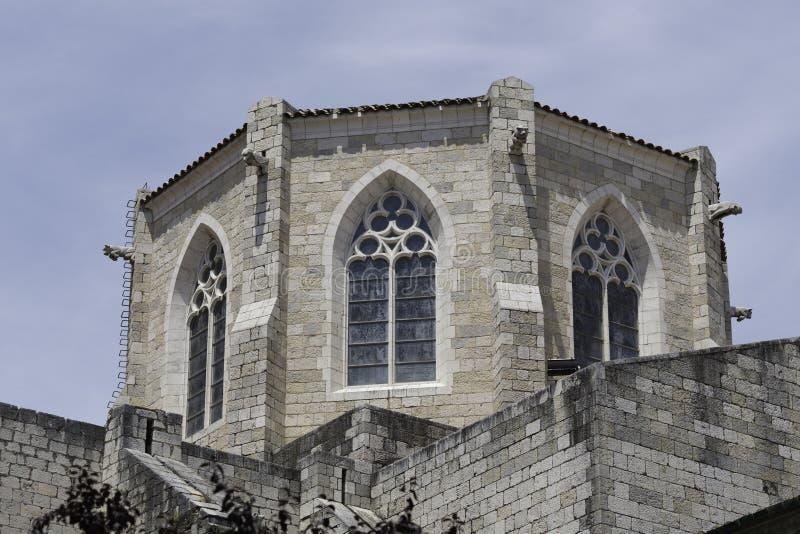 Деталь церков St Peter в Фигерасе, Испании стоковое фото rf