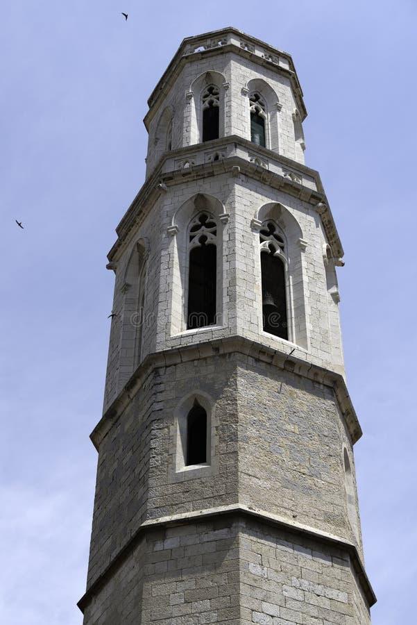 Деталь церков St Peter в Фигерасе, Испании стоковое фото