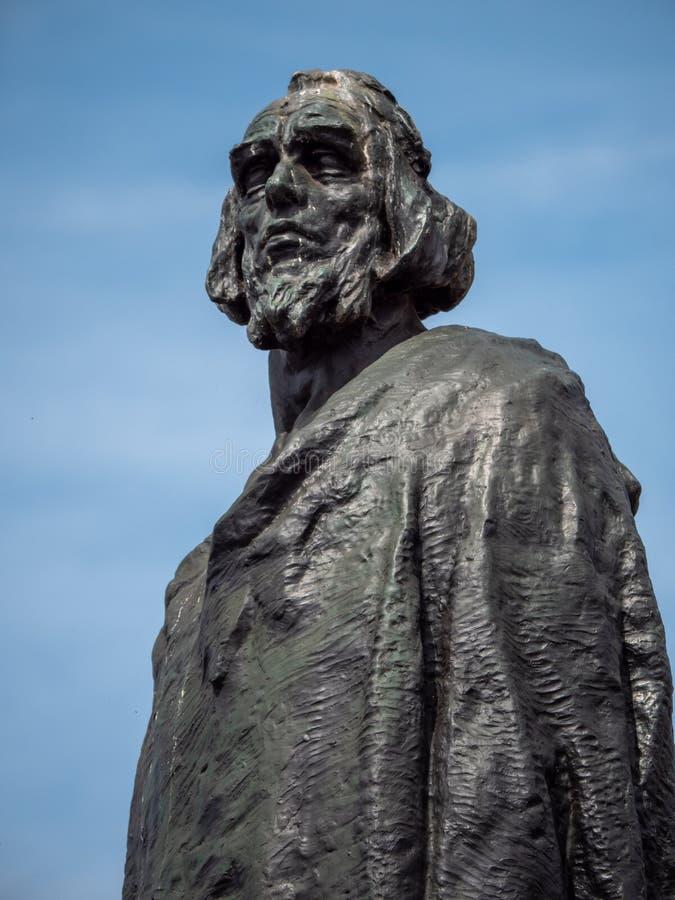 Деталь января Hus мемориальная на старой городской площади, Праге стоковое изображение rf