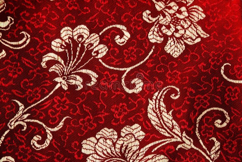 Деталь Cheongsam флористическая стоковые изображения