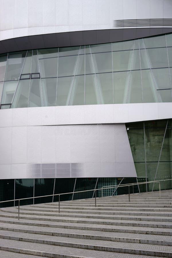 Деталь Daimler архитектуры размещает штаб Untertuerkheim стоковые фотографии rf
