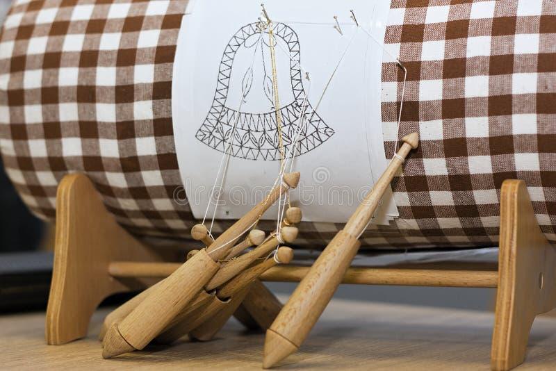 Деталь handmade шнуровки катушкы стоковая фотография rf