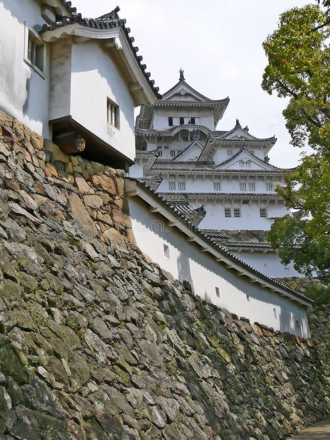 деталь himeji замока стоковая фотография