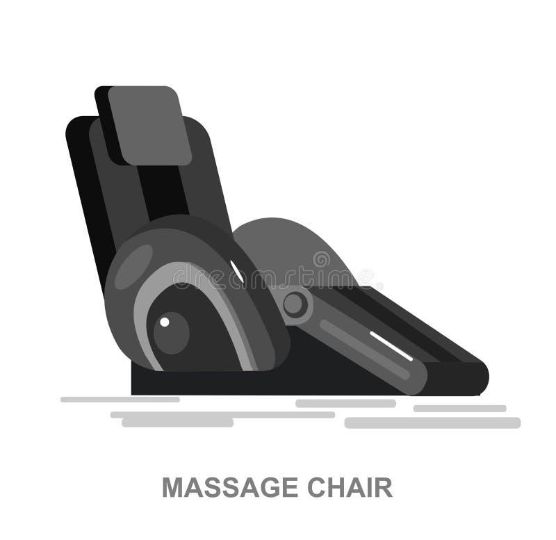 Детализированный вектор стула массажа иллюстрация штока
