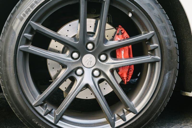 Детали автомобиля Maserati стоковые фотографии rf