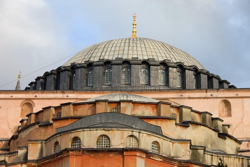 Византийское зодчество Hagia Sophia стоковое изображение