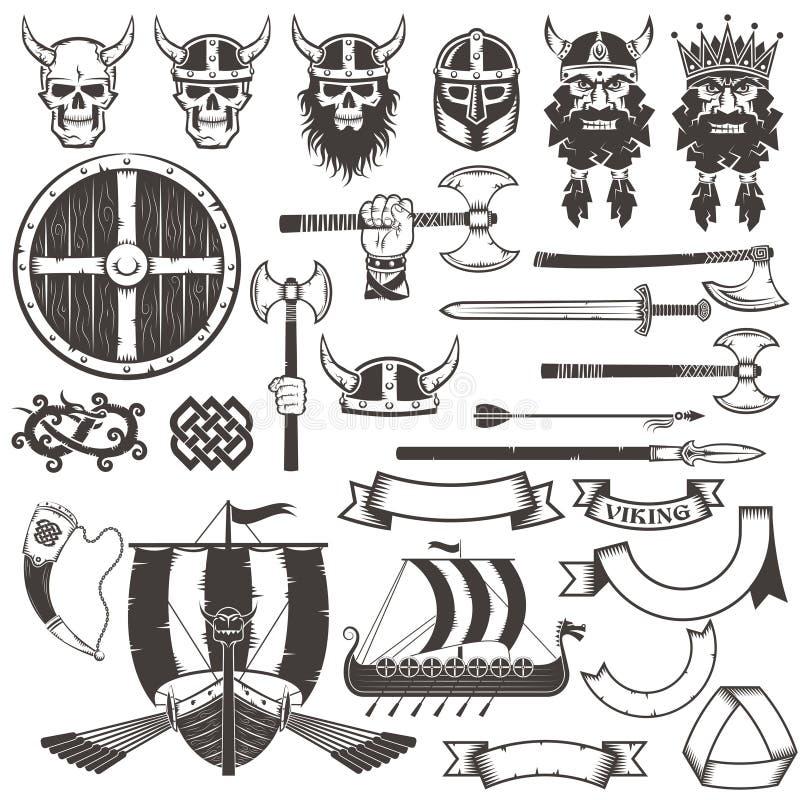 Детали Викинга иллюстрация штока