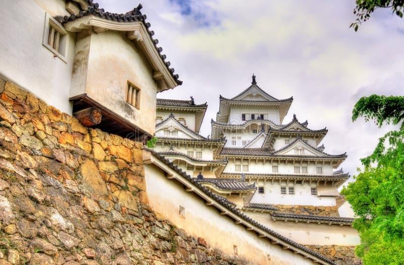 Детали замка Himeji в Японии стоковые фотографии rf