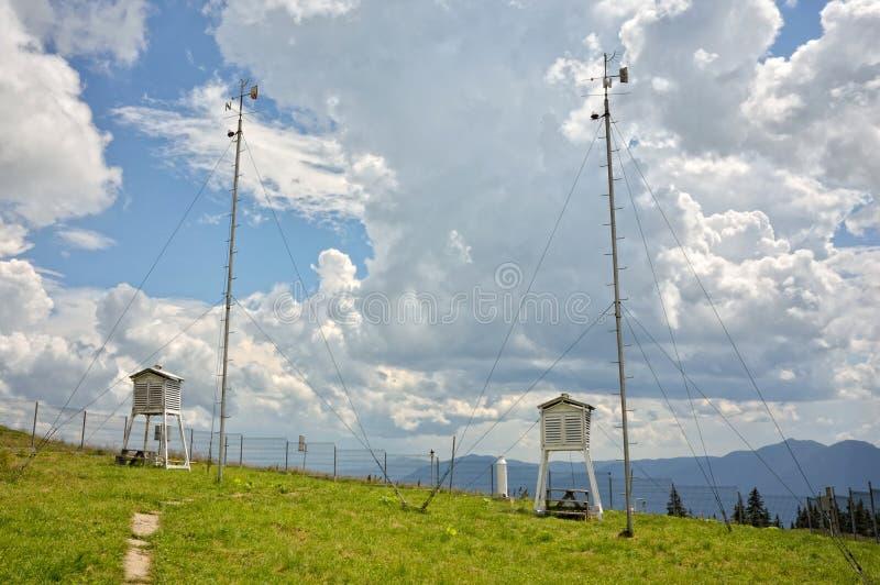 Детали метеорологической станции стоковые изображения