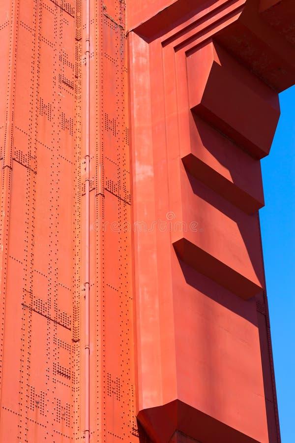 Детали моста золотого строба в Сан-Франциско Калифорнии стоковое фото rf