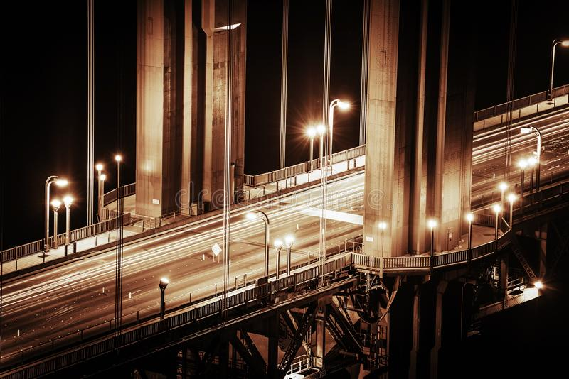 Детали моста золотого строба стоковое фото rf