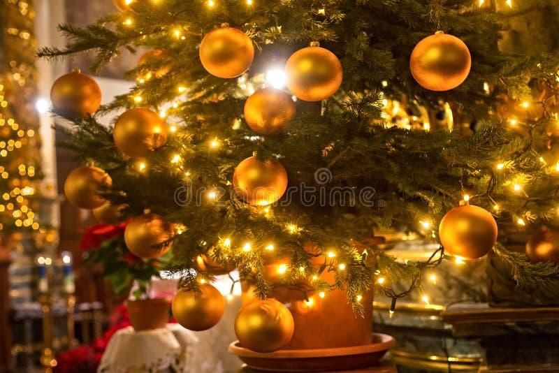 Детали рождественской елки стоковое изображение rf