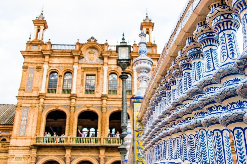 Детали украшений площади de espana в Севилье стоковая фотография