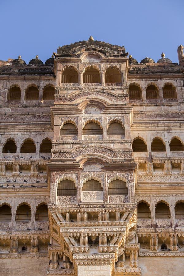 Детали форта Джодхпура в Раджастхане, Индии стоковое фото rf