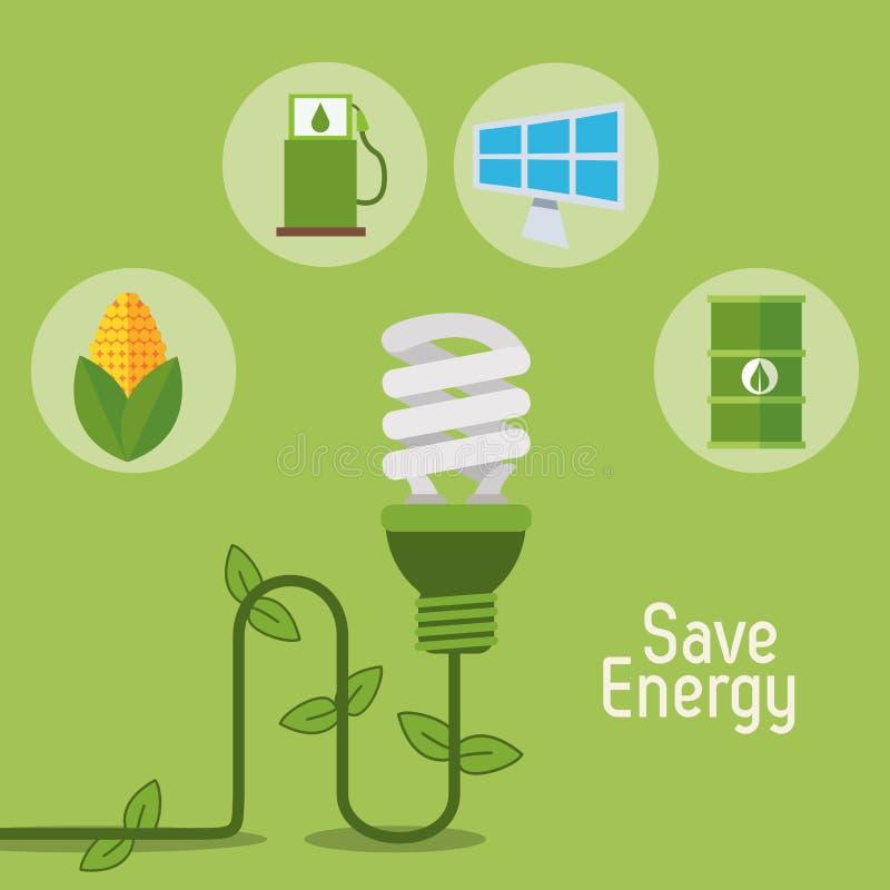 Детали энергии спасения электрической лампочки Eco бесплатная иллюстрация