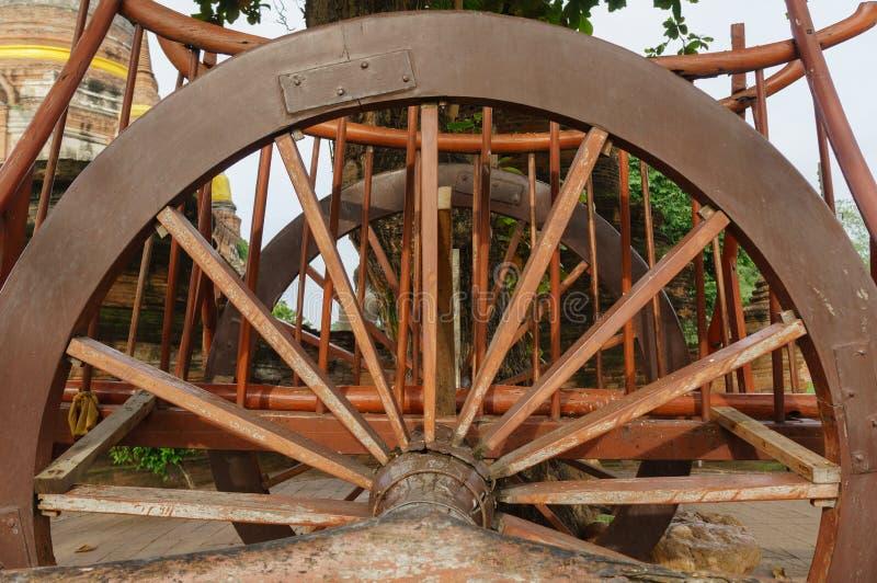 Детали buckboard колеса стоковая фотография rf