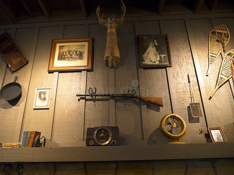 Детали Historial в ресторане в саванне в Georgia США стоковое изображение