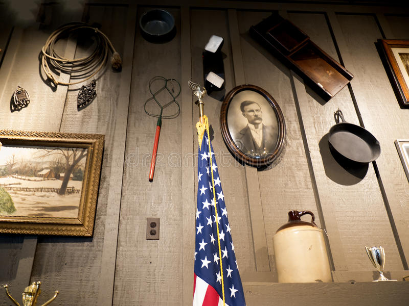Детали Historial в ресторане в саванне в Georgia США стоковое фото