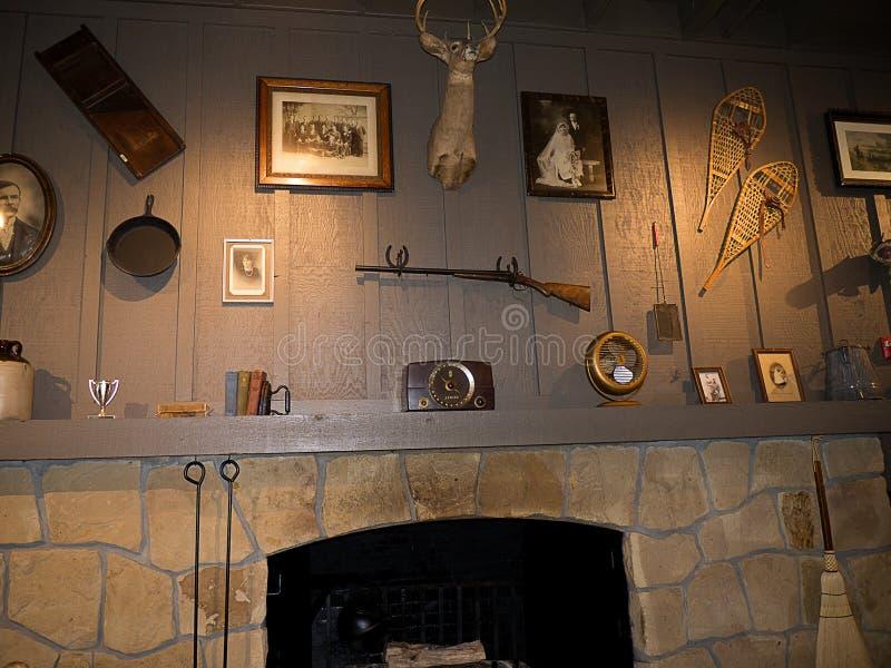 Детали Historial в ресторане в саванне в Georgia США стоковое изображение rf