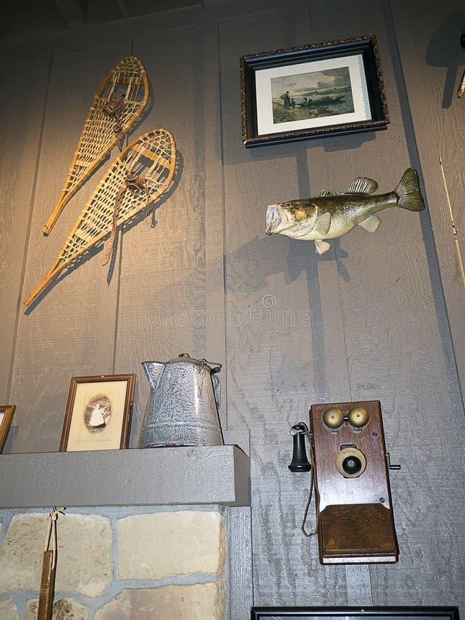 Детали Historial в ресторане в саванне в Georgia США стоковые изображения