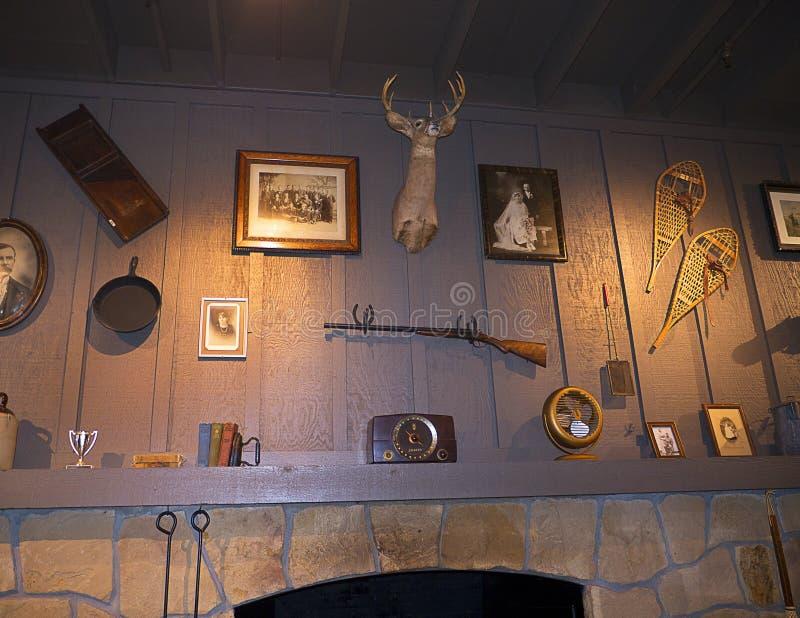 Детали Historial в ресторане в саванне в Georgia США стоковые фото